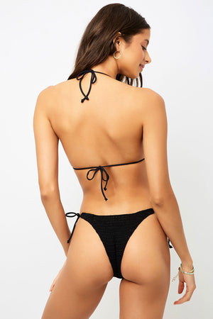 Frankies Bikinis Haze Black Crochet Triangle Top