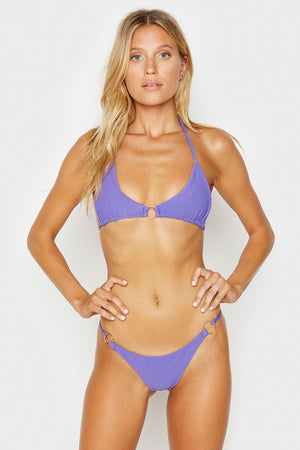 Frankies Bikinis Isabel Amethyst Ring Details Skimpy Ribbed Bottoms