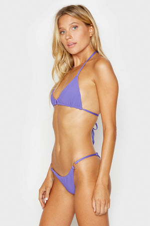 Frankies Bikinis Isabel Amethyst Ring Detail Triangle Ribbed Top