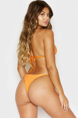 Frankies Bikinis Isabel Citrus Ring Details Skimpy Ribbed Bottoms
