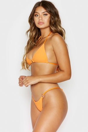 Frankies Bikinis Izzy Citrus Ring Details Cheeky Ribbed Bottoms