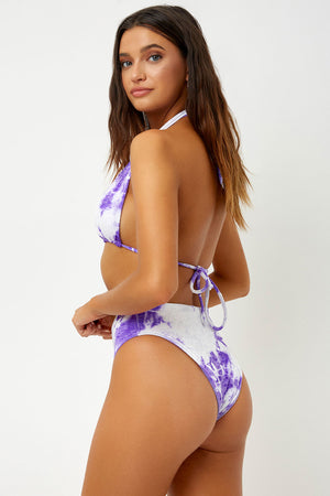 Frankies Bikinis Jared Violet High Waist Cheeky Velvet Bottom