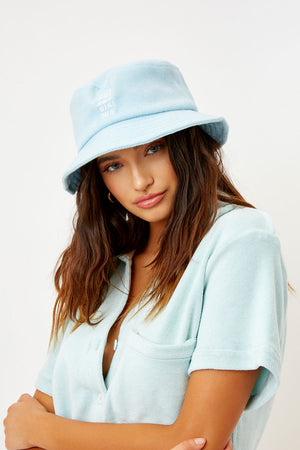 Frankies Bikinis Jax Celeste Terry Bucket Hat