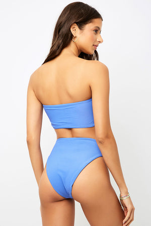 Frankies Bikinis Jenna Amparo High Waist Ribbed Bottom