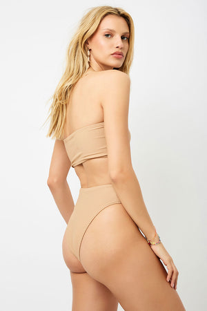 Frankies Bikinis Jenna Sand High Waist Booty Bottom