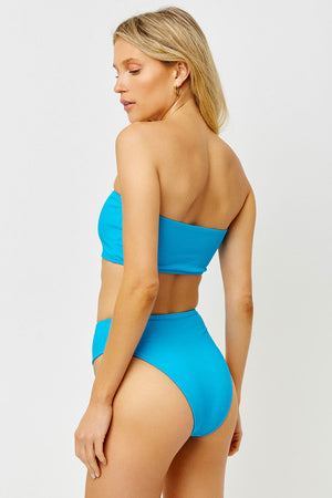 Jenna Ocean Ribbed Bandeau Strapless Top