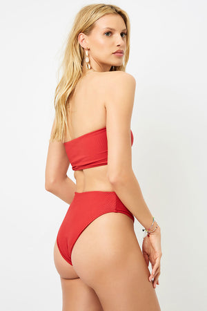 Frankies Bikinis Jenna Cherry High Waist Booty Bottom