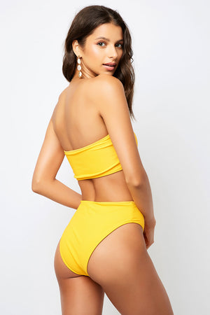 Frankies Bikinis Jenna Squeeze High Waist Ribbed Bottom