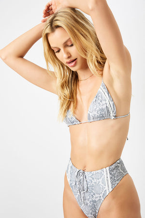 Frankies Bikinis Jetty Python Triangle Top