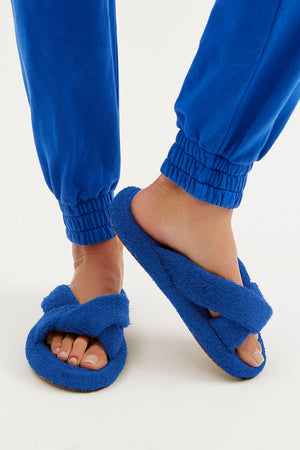 Juna Pacific Blue Terry Slide Sandals