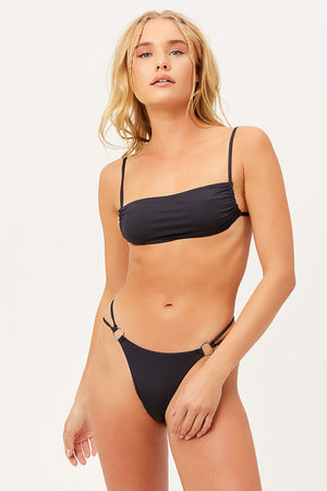 Frankies Bikinis Kailyn Black Bralette Top