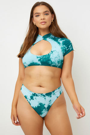 Logan Top - Emerald Tie Dye - Extended