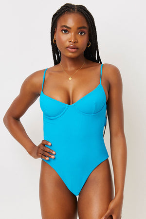 Marie Ocean Ribbed Underwire One Piece