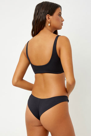 Frankies Bikinis Marina Black Cheeky Bottom