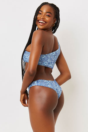 Marina Blue Paisley Shine Cheeky Bottom