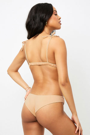 Frankies Bikinis Marina Sand Cheeky Bottom
