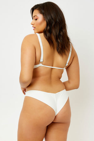 Frankies Bikinis Marina White Cheeky Bottom extended sizing