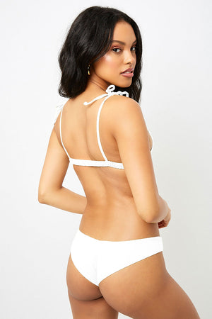 Frankies Bikinis Marina White Cheeky Bottom