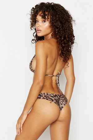 Frankies Bikinis Marina Leopard Cheeky Seam Back Bottom