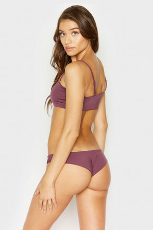 Frankies Bikinis Marina Sangria Cheeky Seam Back Bottom