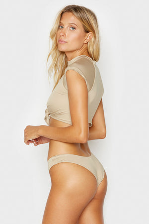 Frankies Bikinis Max Latte High Cut Cheeky Bottom