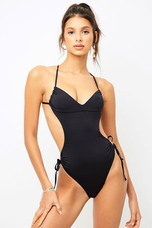 Frankies Bikinis Meredith Black Skimpy One Piece