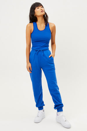 messman pacific blue crop tank