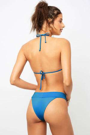 Frankies Bikinis Nick Deep Sea Blue Triangle Top
