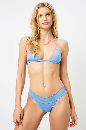 Frankies Bikinis Nick Blue Jean Triangle Top