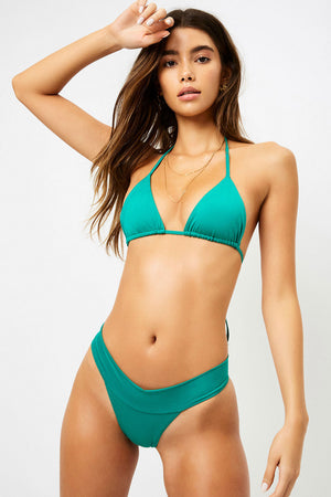 Frankies Bikinis Nick Emerald Triangle Top