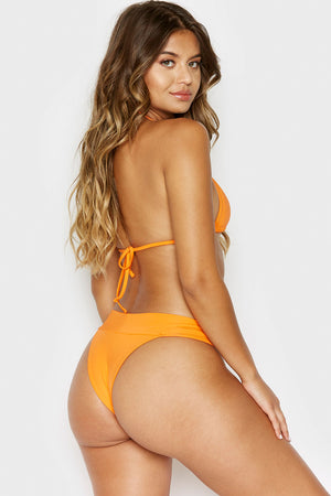 Frankies Bikinis Nick Skimpy Coverage Citrus High Leg Bottom