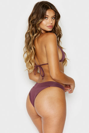 Frankies Bikinis Nick Sangria High Waist Bottom