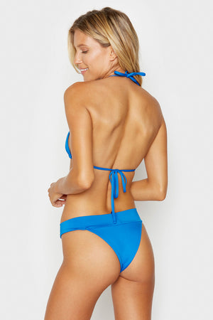 Frankies Bikinis Nick Skimpy Coverage Cobalt High Leg Bottom