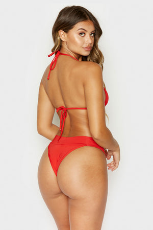 Frankies Bikinis Nick Red Triangle Top