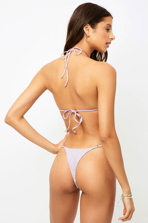 Frankies Bikinis Pamela Orchid Cross Strap Ribbed Top