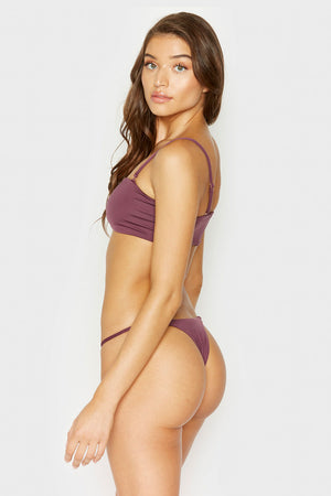 Frankies Bikinis Sadie Sangria Cheeky Bottom