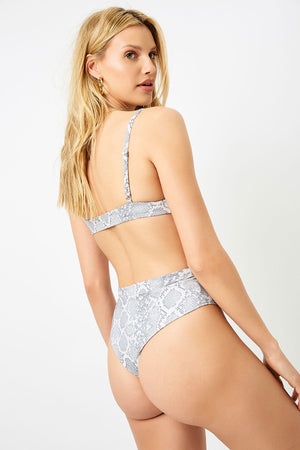 Frankies Bikinis Shore Python High Waist Bottom