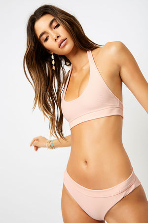 frankies bikinis swimwear stevie bottom peach resort2020