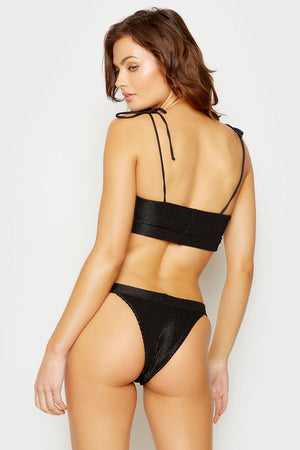 Frankies Bikinis Black Summertime Skimpy Bottom