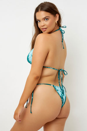 Frankies Bikinis Tasha Emerald Tie Dye Triangle Top