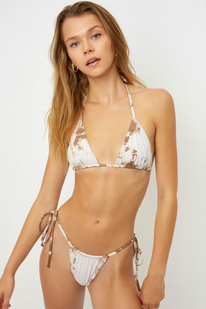 Frankies Bikinis Tasha Brownie Tie Dye String Bottom