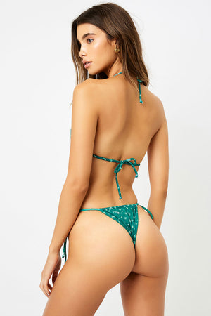 Frankies Bikinis Tavi Green Ditsy String Tie Skimpy Bottom