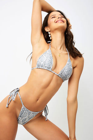 Frankies Bikinis Tavi Python Triangle Top