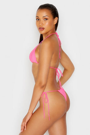 Frankies Bikinis Tia Heart Throb Pink Skimpy String Bottom