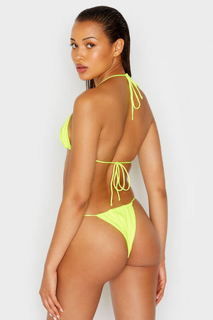 Frankies Bikinis Tia Lemon Drop Yellow String Top