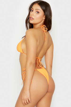 Frankies Bikinis Tia Tangerine Triangle String Top