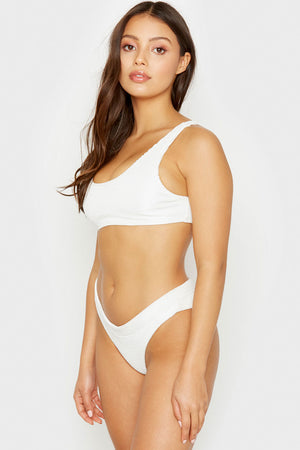 Frankies Bikinis White Wilderness Cheeky Bottom