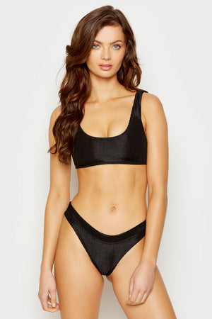 Frankies Bikinis Black Wilderness Top
