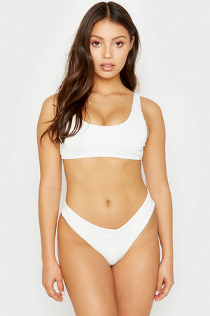 Frankies Bikinis White Wilderness Top