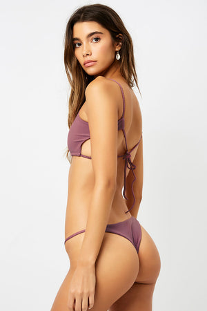 Frankies Bikinis Willa Sangria Ribbed Skimpy Bottom
